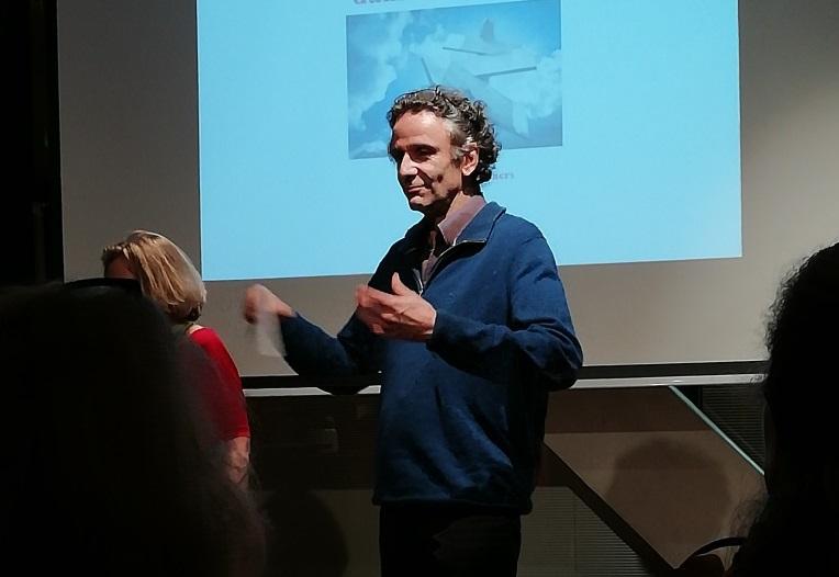 Michel Podolak durant la Rencontre Renaissance sur l'intuition