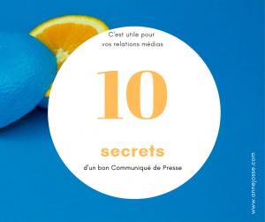 10 secrets d'un bon communiqué de presse