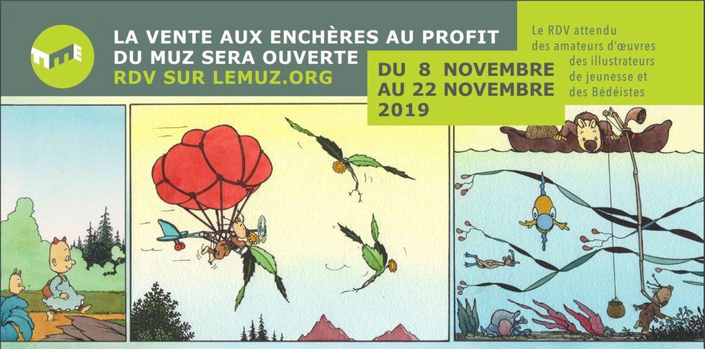 flyer vente aux enchères Muz 2019