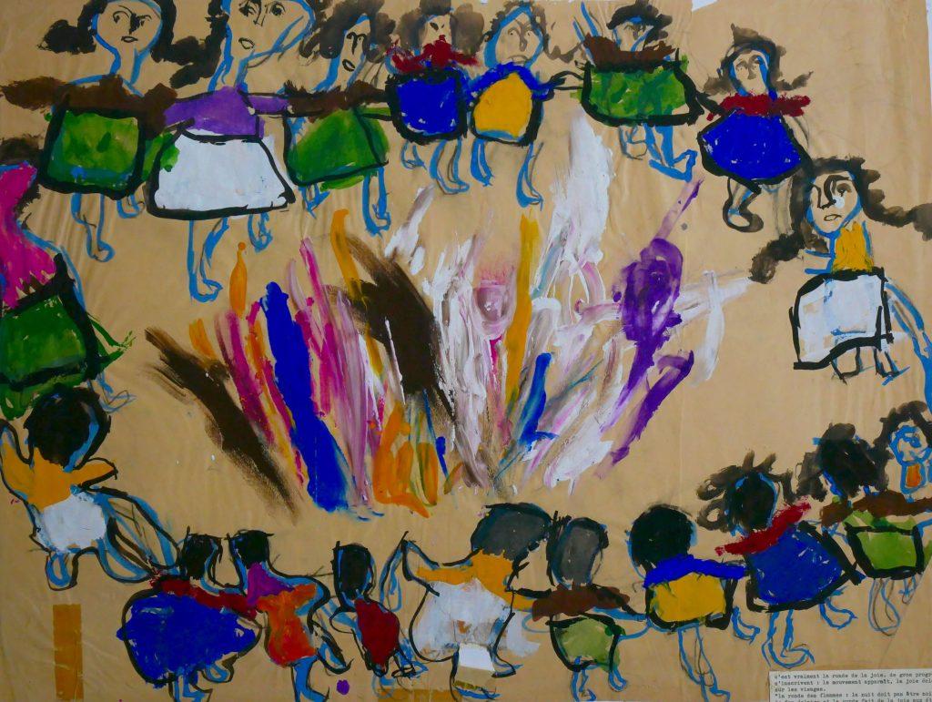 la ronde des flammes, dessin d'enfant de l'association Germaine Tortel