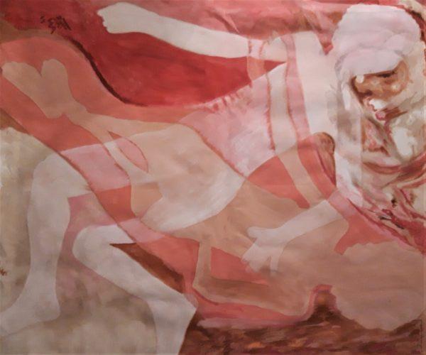 peinture de Sylviane Mook par Valérie Graff