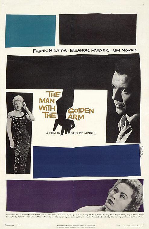 affiche de film L'homme au bras d'or